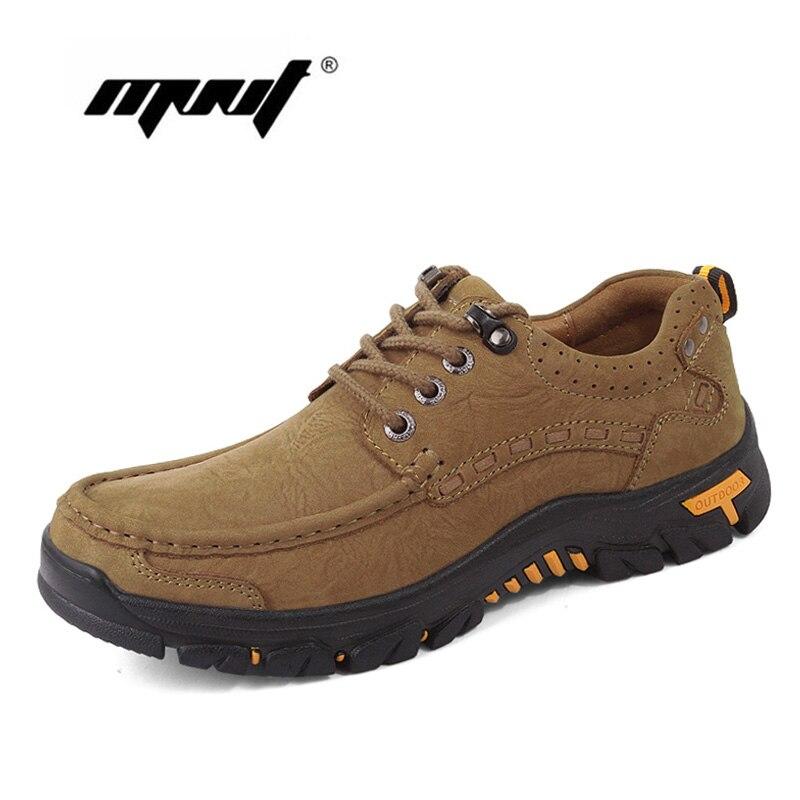 Grande taille hommes bottes Vintage en cuir véritable automne bottines semelle en caoutchouc antidérapant randonnée bottes chaussures hommes