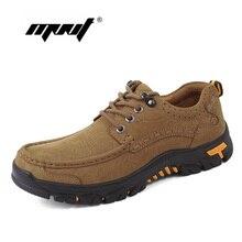 Plus tamaño de los hombres botas de cuero genuino otoño botas suela de goma antideslizante Botas de senderismo zapatos de los hombres