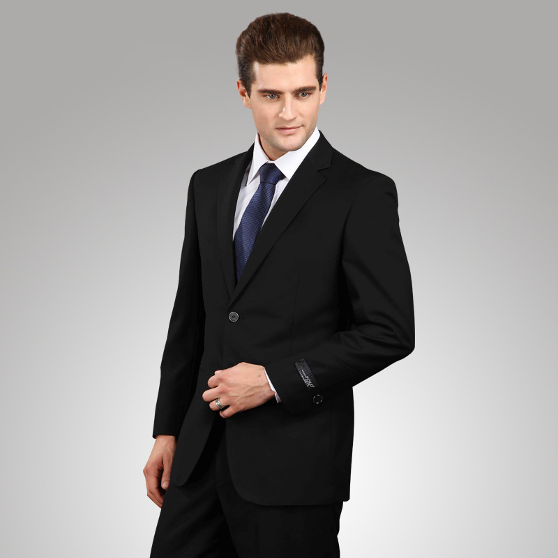 Cheap Black Suit Mens Dress Yy