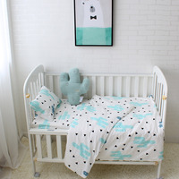 3 Pcs Set Baby Bedding Set Including Duvet Cover Pillowcase Bed Sheet 100 Cotton Baby Linen