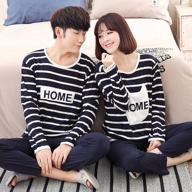 New Lovers pajamas women short-sleeved pyjama sets men pure cotton couple pajamas set sleepwear suit men Homewear clothes