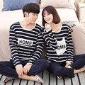 Nuevos pijamas de Los Amantes mujeres conjuntos de pijamas de los hombres de manga corta de algodón puro par de pijamas de ropa de dormir conjunto traje de los hombres Homewear ropa