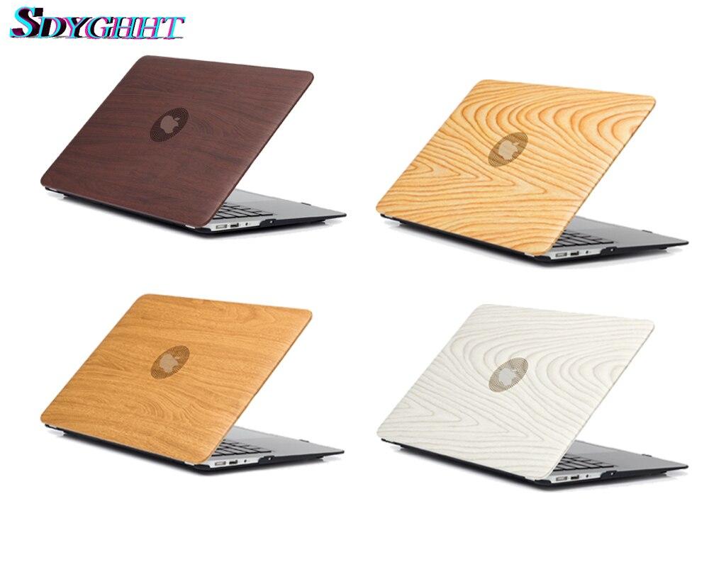 New anti real wood grain Laptop Case For font b Apple b font font b MacBook