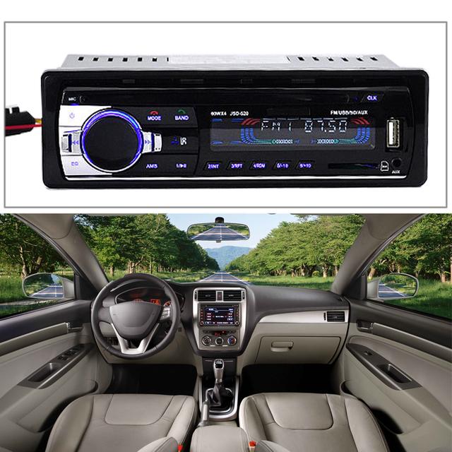 FM Stereo Radio Car Radio Player Bluetooth Hands-free Call kit Car Vehicle Stereo Audio Receiver SD USB Radio MP3 CD Player