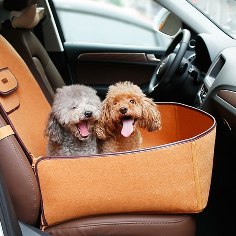 Waterproof Pet Dog Bulldog Car Single Seat Cover Two Function Pet With Easy Open or Unfold Pet Carrier Bag High Quality