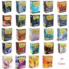 66x91mm 100 PCS/LOT Colorful Matte Cards Dragon Shield Sleeves MGT Cards Protector for Pkm, Playing Cards Star Reals Sleeves