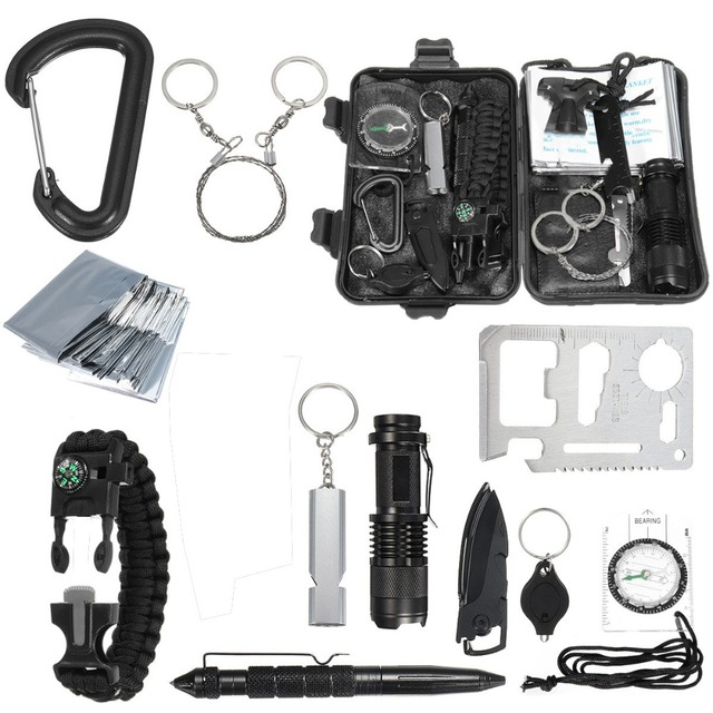 Survival Kit Set 13 in 1 Outdoor Camping Travel Multifunction First aid Emergency Survival kit