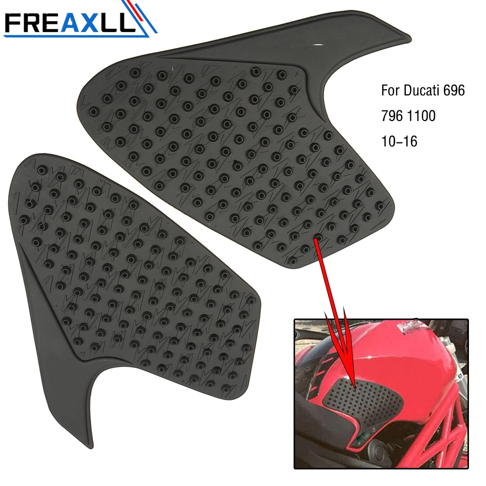 For Ducati 696 796 1100 2010 2011-2016 Motocycle Accessories Rubber Motorcycle Decal Pads Protector Stickers Oil Tank Sticker
