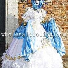 Роскошное белое викторианское бальное платье Женский Венецианский карнавальный костюм платье для косплея