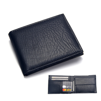 Luxury Men's Wallet Leather Solid Slim Wallets Men Pu Leather Bifold Short Credit Card Holders Coin Purses Business Purse Male 7