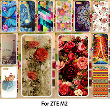 купить Anunob For ZTE Nubia M2 Case Silicone Soft TPU Covers Pattened Cases ZTE Nubia M2 5.5 Painting Rose Butterfly Flower Bags Skin по цене 46.89 рублей
