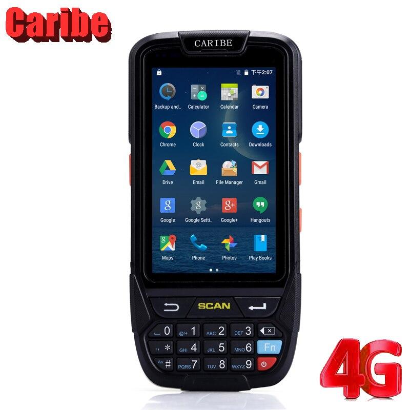 CARIBE Android Leitor de código de Barras PDA Robusto 4G Quad Core 2 GB + 16 GB Wi-fi RFID GPS À Prova D' Água