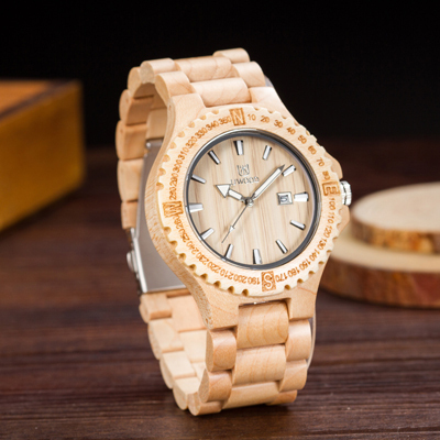 New Arrival Casual Original Wood Watches Men's Wristwatch Classic Folding Clasp Quarzt Watch Movement Wooden Wristwatch Unisex | Fotoflaco.net