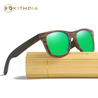 Kithdia Natural Wood Sunglasses Polarized Handmade Bamboo Sunglasses and Support Drop Shipping / Provide Pictures KD043