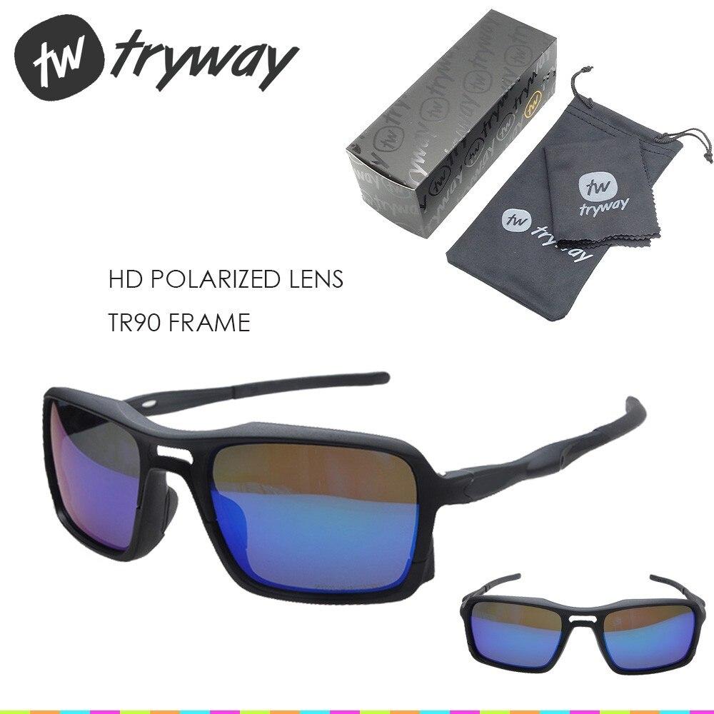 Prix pour 2017 NOUVEAUX Sports cyclisme Vélo lunettes de soleil Mat noir ROUGE Iridium VERRES polarisés oculos ciclismo gafas de sol hommes lunettes avec boîte