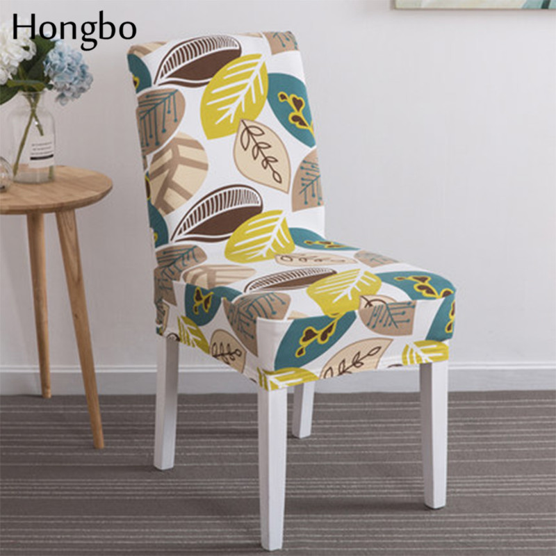 Hongbo Spandex Elastic Floral Printing Dining Chair Slipcover Modern Removable Anti dirty Kitchen Seat Case Stretch Chair Cover in Chair Cover from Home Garden