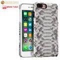 Para iphone 7 plus caso luxo original couro genuíno python escudo do telefone tampa traseira para apple iphone7 além de cobra 5.5 polegadas