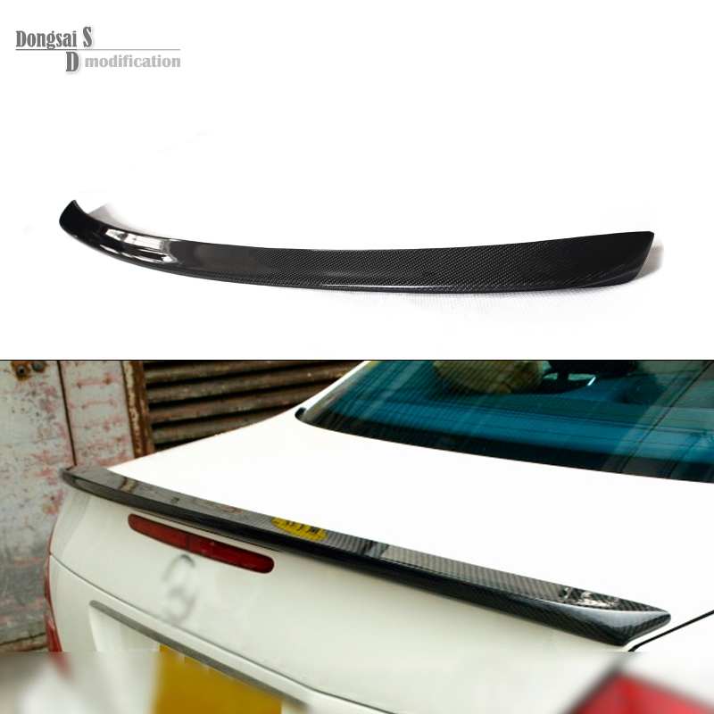 Mercedes W211 Carbon Fiber AMG Look Spoiler Back Trunk Rear Wing For Benz E Class W211 2003 - 2009 E320 AMG Style Spoiler yandex mercedes x156 bumper canards carbon fiber splitter lip for benz gla class x156 with amg package 2015 present