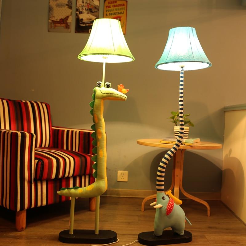Šiuolaikinė karikatūra Gyvūnų audinys Medvilninis audinys E27 LED JAV Prietaiso grindų šviestuvas vaikų miegamojo miegamojo nuotolinio apšvietimui (pasirinktinai)