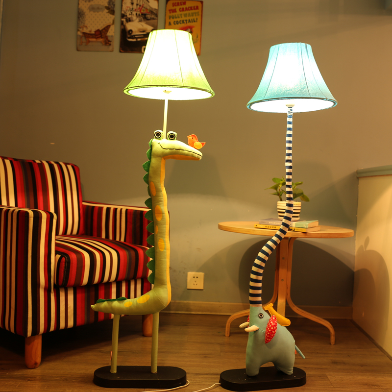 Moderne Cartoon Animal Fabric Cotton Cloth E27 LED US Plug Floor Lamp - Indendørs belysning