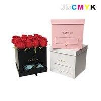 Kwiaciarnia pakowania Kwiat pudełko kwadratowe obejmują szuflady favous pielenie party prezenty dla gości czekolada cukierki box kupić 2 sztuk 10% OFF