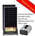 COMPLETE Solar KIT 200 W Watt 200W Solar Panel 300W Inverter 20A solar charge controller 12V RV Boat Off Grid
