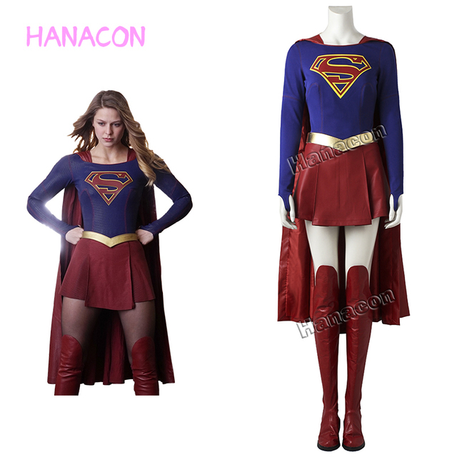 supergirl kara zor el kare danvers costume cosplay woman adult halloween comic con jumpsuit skirt