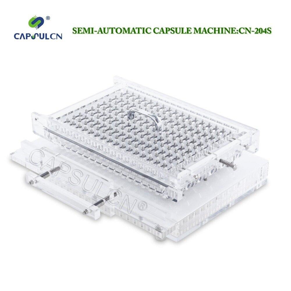 Tamanho 4 cápsula Semi-automáticas CapsulCN204-S/máquina de enchimento da cápsula/cápsula máquina de enchimento