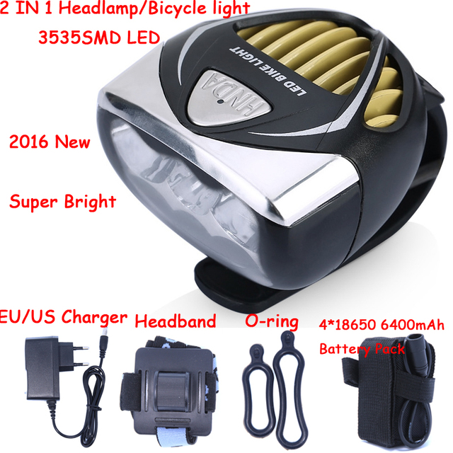 New Arrival 3000LM 3535 SMD LED Headlight Bike Light Headlamp Head Light Lamp cycling With Battery Pack & Charger Free Shipping