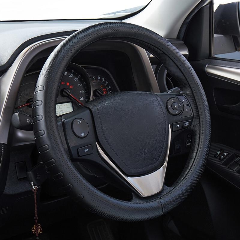 Δερμάτινο τιμόνι από γνήσιο δέρμα 38CM - Αξεσουάρ εσωτερικού αυτοκινήτου - Φωτογραφία 1