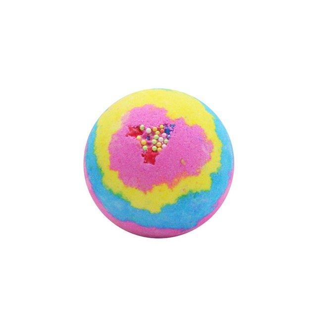 100G Multicolor Bath Ball Home Hotel Bathroom Spa Body Cleaner Bubble Fizzer Bath Bomb Handmade Birthday Gift 1