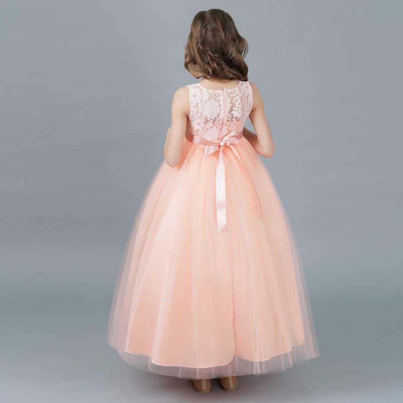 6bba78eb4 ... Rosa Formal largo baile vestido graduación vestidos para niñas ceremonia  de boda evento adolescente vestido Niñas