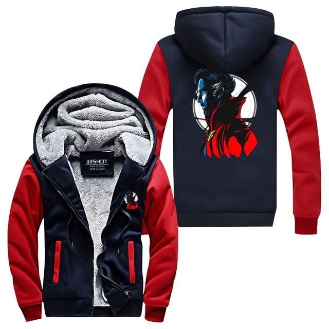 WISHOT Doctor Strange Hoodie Jacket Super Warm Thicken Fleece Zip Up Hoodie  Men's Coat USA Size