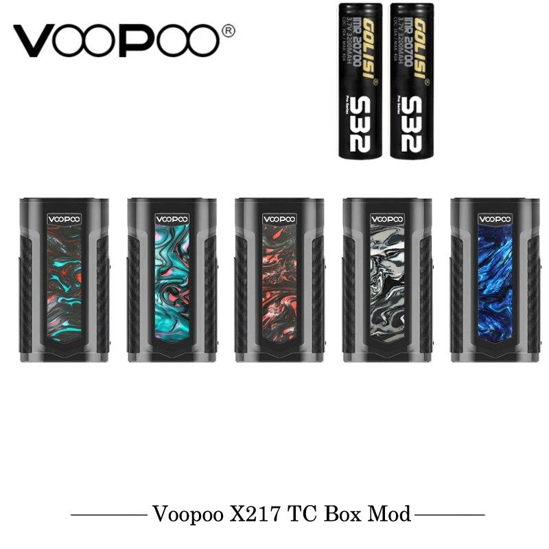 Cigarette électronique originale VOOPOO X217 TC boîte Mod 217 W Vape gène. ventilateur puce TFT IPS HD écran Fit 21700 20700 18650 batterie