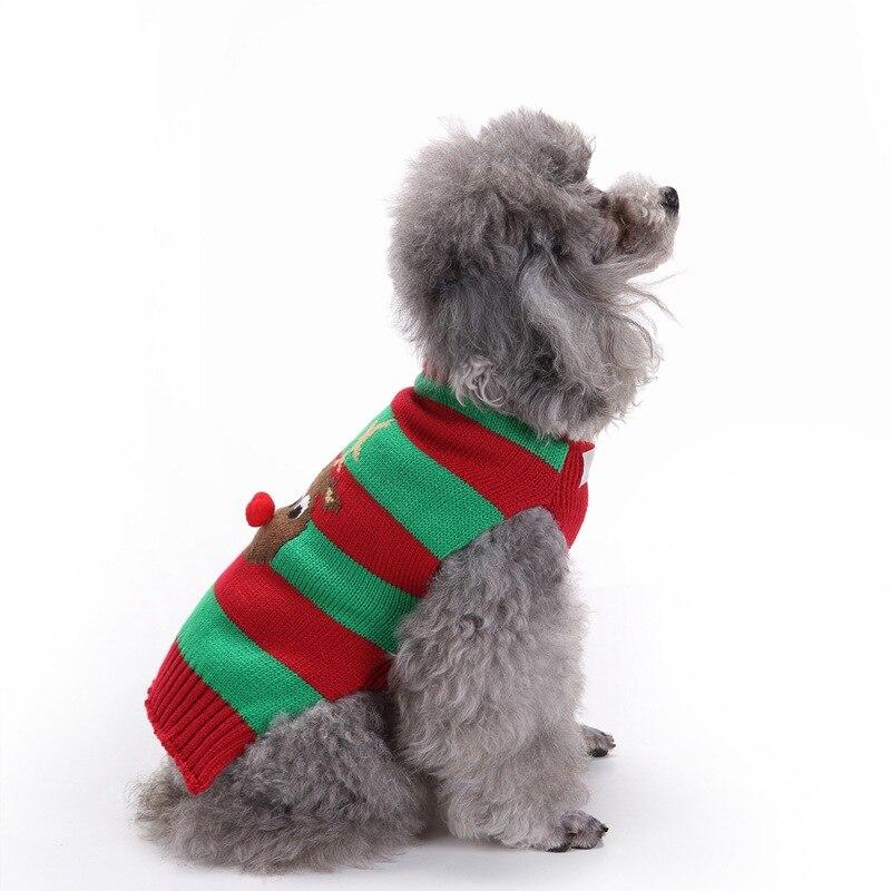 Perro mascota gato Navidad Reno traje ropa suéter pequeño perro ...
