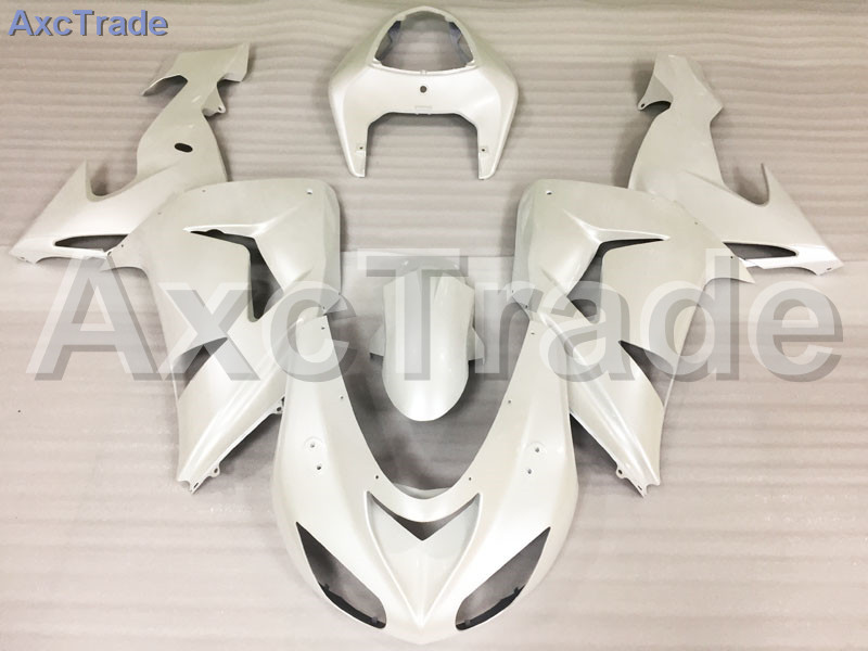 Motorcycle Fairings Kits For Kawasaki Ninja ZX10R ZX-10R 2006 2007 06 07 ABS Plastic Injection Fairing Bodywork Kit White A689 abs fairing kit for kawasaki zx10r zx 10r 2006 2007 ninja green black line 07 06 fairing kit xl36