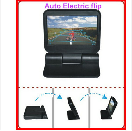 5 800 480 Car TFT LCD Monitor Screen 2ch Video Monitor with remote control electrical foldable