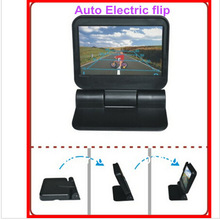 Screen-2ch Camera Lcd-Monitor TV Rearview-Backup Foldable with Remote-Control Electrical
