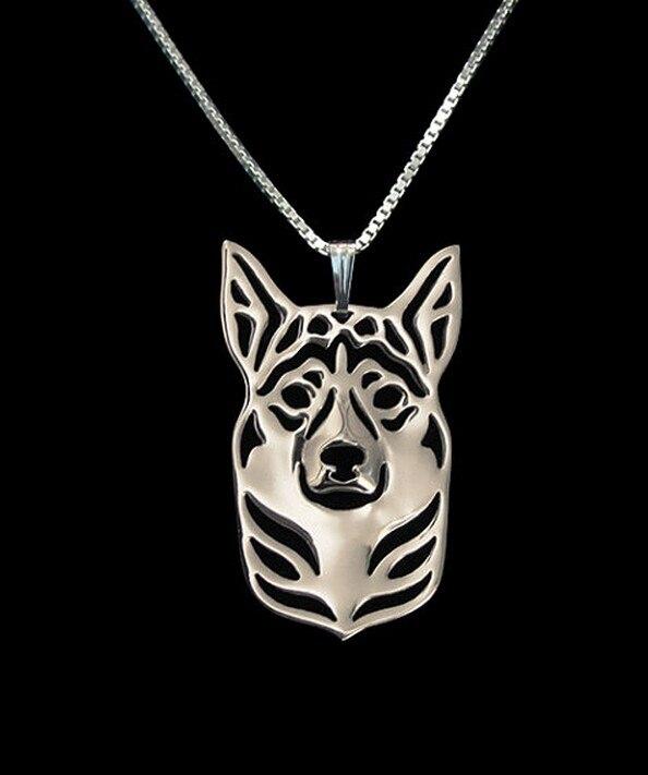 Купить ожерелье с подвеской в виде собаки золотого цвета