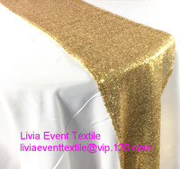 1pcs Sequin Table Runner, Shiny Sequin Gold Table Runner 30x180cm/30x240cm/30x270cm For Wedding Event &Party&Hotel& Decoration
