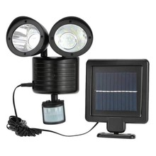 DCOO 22LED Solar Light Twin Head PIR Motion Sensor Lighting Outdoor Garden lamp Waterproof Street Security Decoration