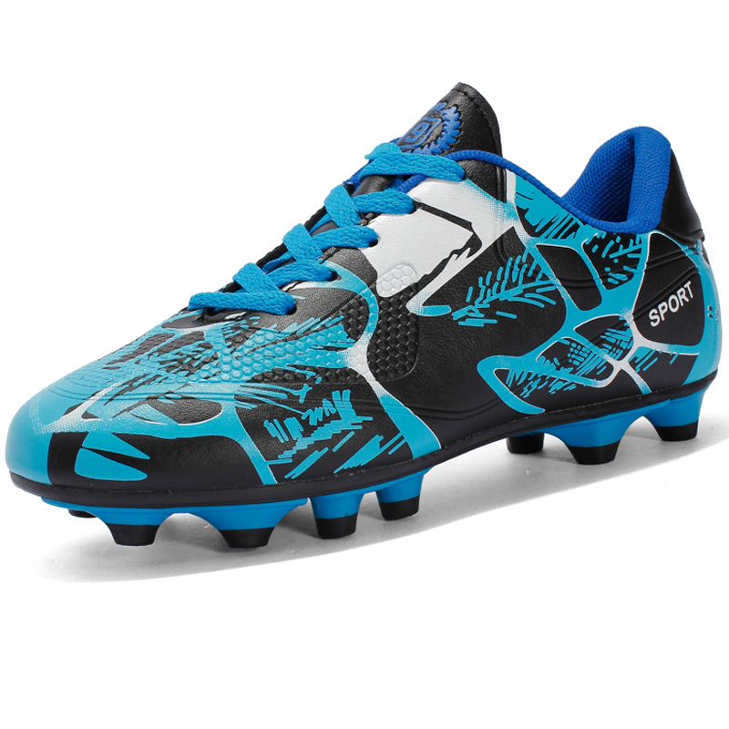 Long Spikes Boys Football Shoes Kids Sneakers Footwear Outdoor Children Soccer Shoes Cleats Turf Trainers Sports Shoes Athletic(China)