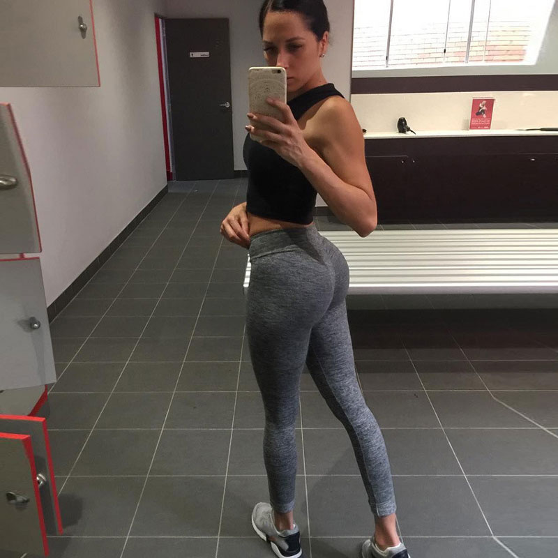Moda Push Up Leggings Mujer entrenamiento Leggings Slim Leggings poliéster V cintura Jeggings mujeres pantalones lápiz