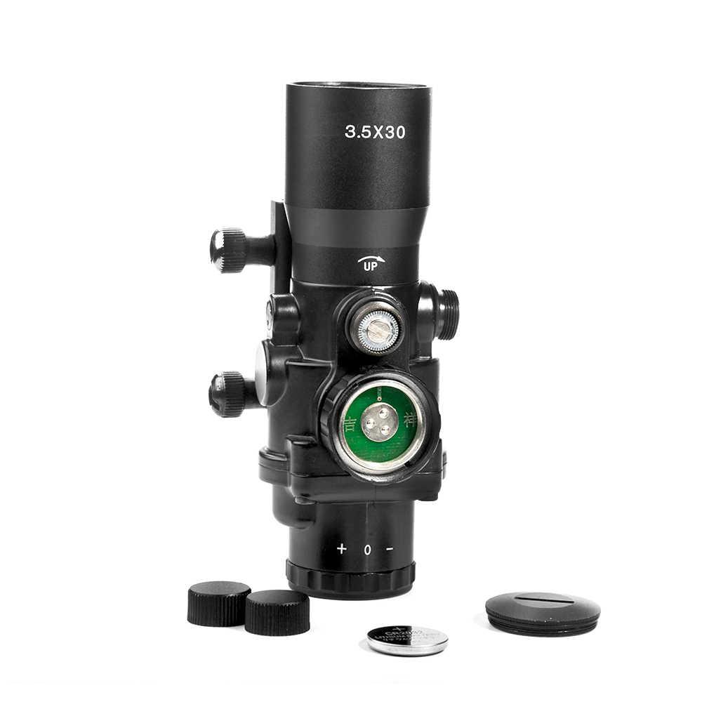 LUGER 3.5X30 Merah Hijau Biru Berburu Lingkup Taktis Optik Pandangan Riflescope dengan 20Mm Rail Mount untuk Airsoft air Gun Senapan