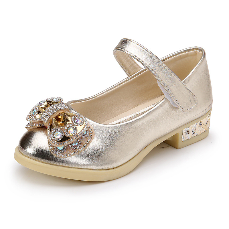 Spring-new-girls-Party-high-heeled-wedding-Leather-shoes-diamond-princess-bow-dance-shoes-Pink-gold-size-26-36-for-big-girls-1