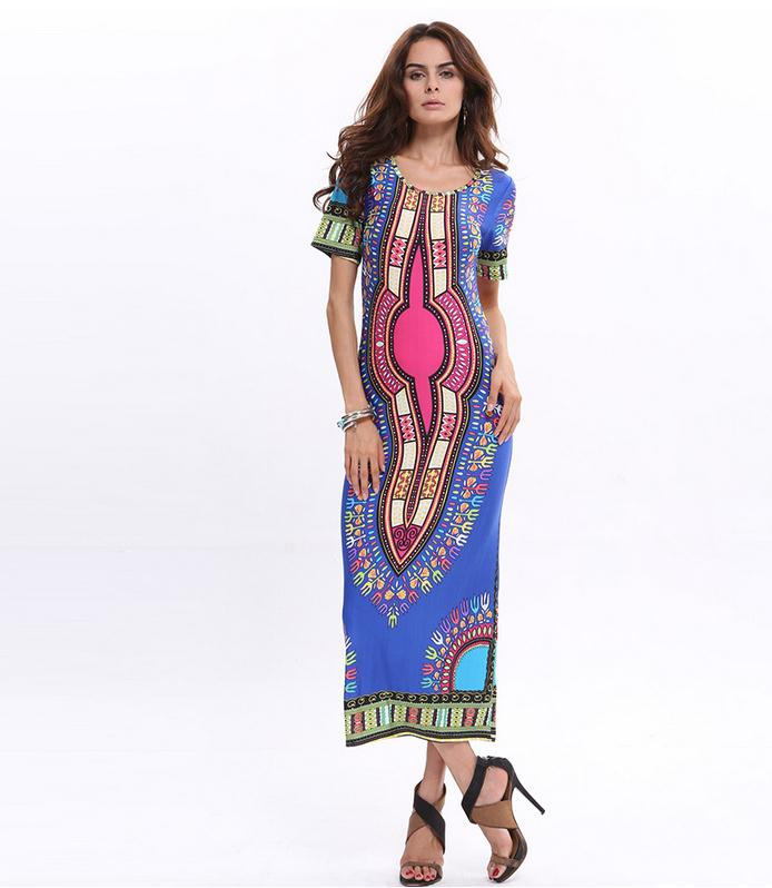 New 2018 Fashion Women Bohemian Vestidos Dress Batik