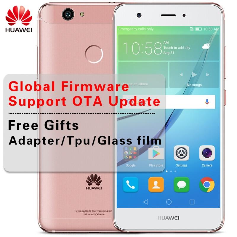 ПЗУ международного стандарта 5,0 дюймов huawei Nova 4 ГБ Оперативная память 64 ГБ Встроенная память msm8953 восемь ядер мобильного телефона функция распознавания отпечатка пальца на базе Android 6,0 12.0MP