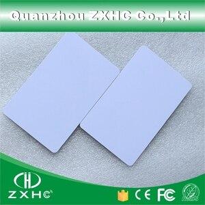 Image 1 - (10 ピース/ロット) FM1108 (互換 S50) 防水 PVC スマート白カード RFID タグ 13.56 Mhz のアクセス制御のための