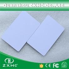 (10 adet/grup) FM1108 (Uyumlu S50) su geçirmez PVC Akıllı Beyaz Kart RFID Etiketleri 13.56 MHz Erişim Kontrolü Için