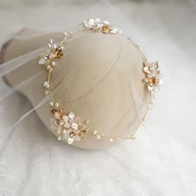 Freshwater Pearl Bridal Headpiece Handmade Hair Vine Flower Wedding Hair Jewelry Tiara Headband Bijoux Cheveux Wigo1382 Hair Jewelry Aliexpress
